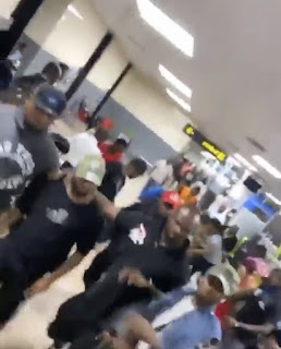 Davido Mobbed By Fans At Lagos Airport (video + pictures)