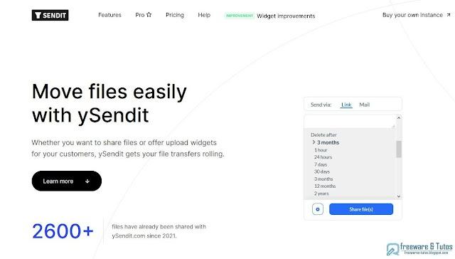 ySendit : un outil en ligne pour envoyer des fichiers sans limite de taille et disponibles longtemps (2 ans !)