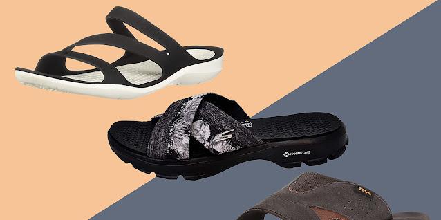 Wearing Slides vs Flip Flops