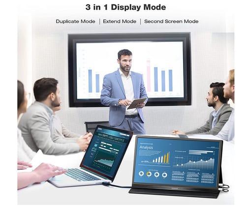 CorpritMonitor Ultra Slim VESA HDMI Portable Monitor