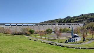 小平ダム下流のクビナガリュウ