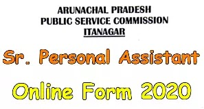APPSC Sr. PA Recruitment 2020