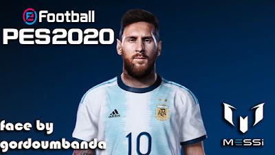 PES 2020 Faces Lionel Messi by Gordoumbanda