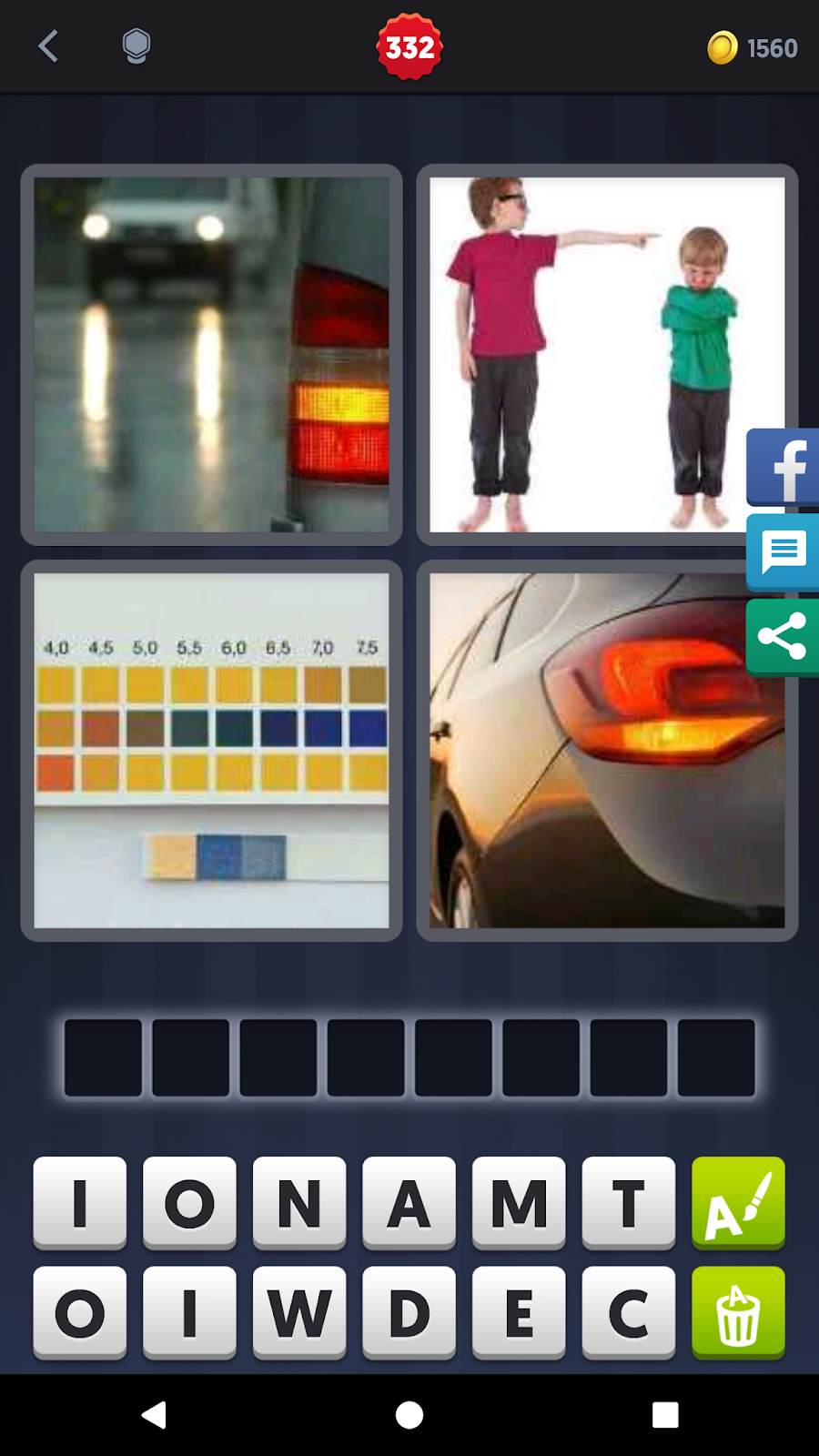 4 Pics 1 Word Answers Solutions Level 332 Indicate