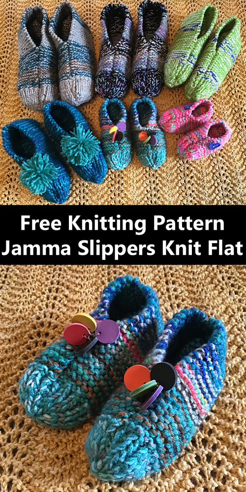 Jamma Slippers - Free Kittig Pattern