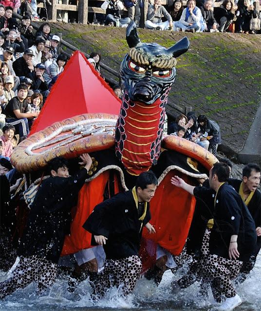 Yatsushiro Myoken-sai (autumn festival), Yatsushiro City, Kumamoto Pref.