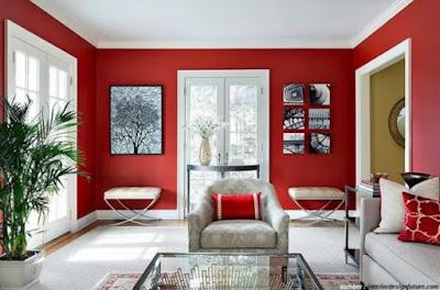 Warna Merah Pastel Kombinasi Putih