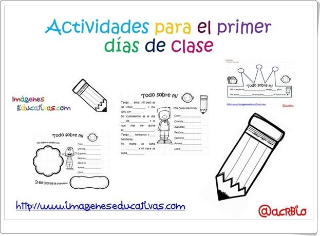 """""""Actividades para el primer día de clase"""" (Fichas de Educación Primaria)"""