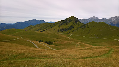 View of the pasture from Rifugio Parafulmine toward Monte Formico.