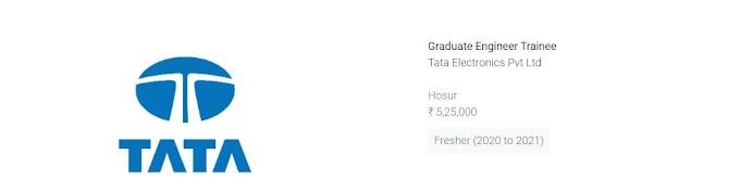 Tata Recruitment 2021 (NO gate )
