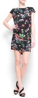 vestido con estampado floreado de mango