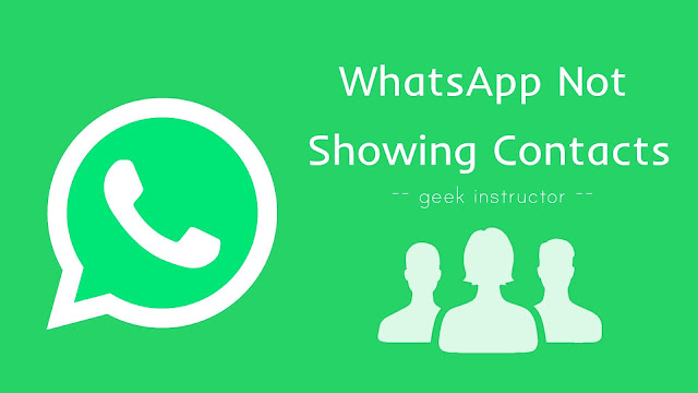 Fix WhatsApp not showing contacts
