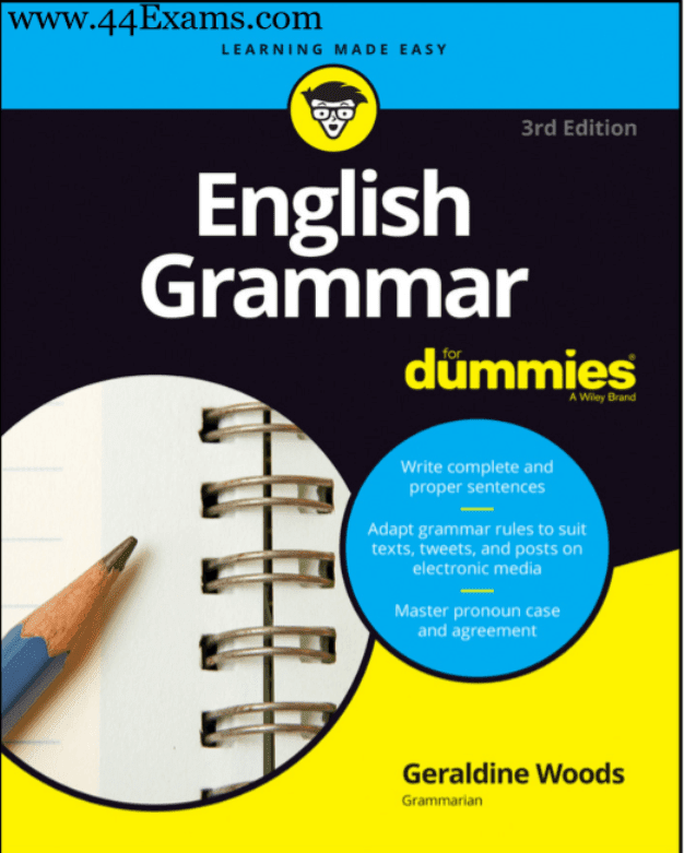 English-Grammar-by-Geraldine-Woods-For-All-Competitive-Exam-PDF-Book