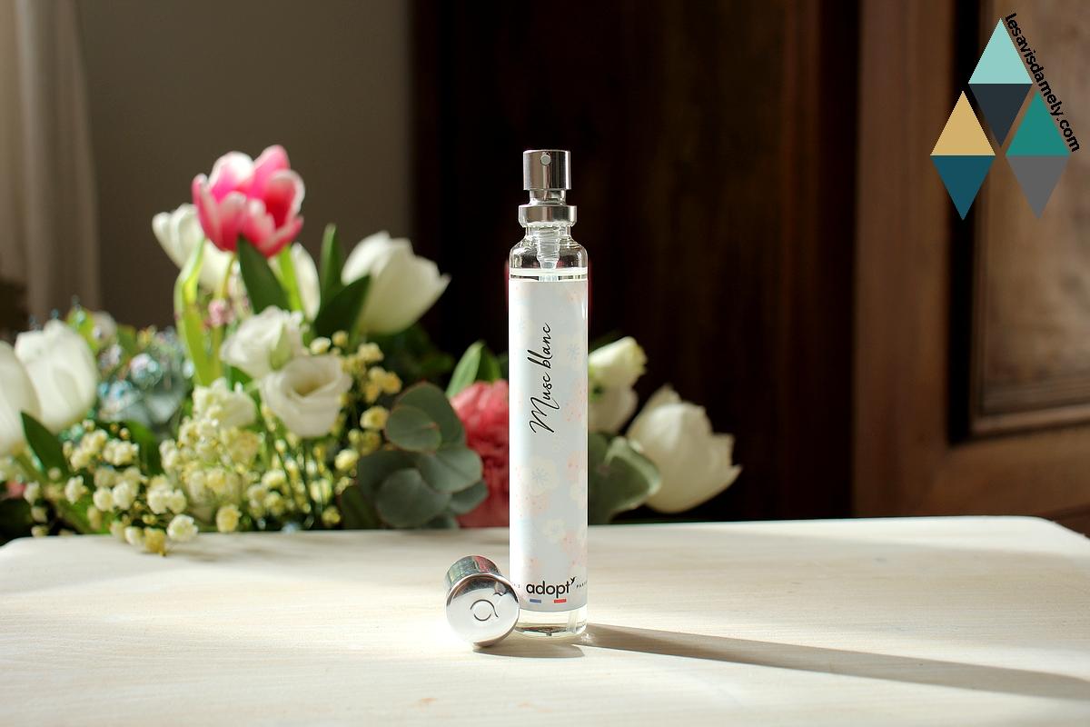 revue beauté eau de parfum musc blanc adopt'