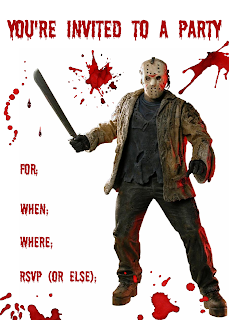 Free printable Friday the 13th invitations