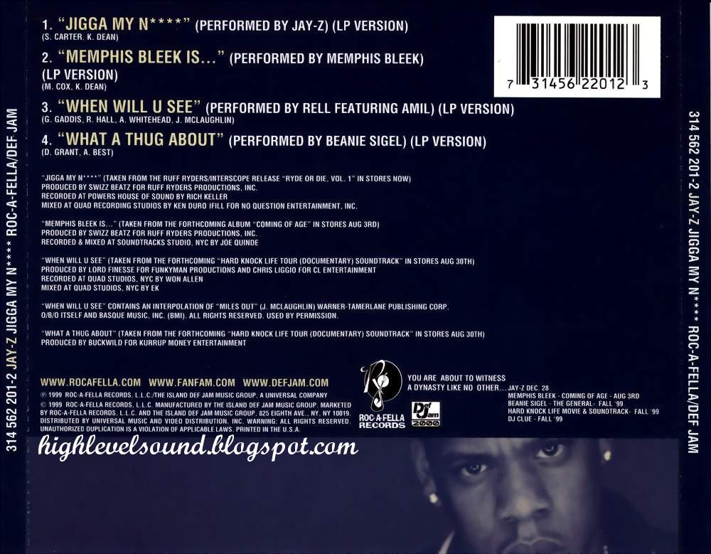 highest level of music: Jay Z - Jigga My N****-(CDS)-1999-hlm
