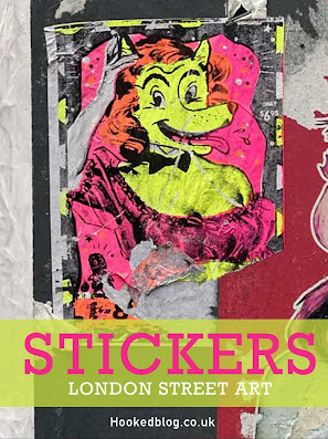 London Street Art - Photographic collection of Shoreditch Sticker Art. Click to see the full set. #Streetart #Stickers #Hookedblog