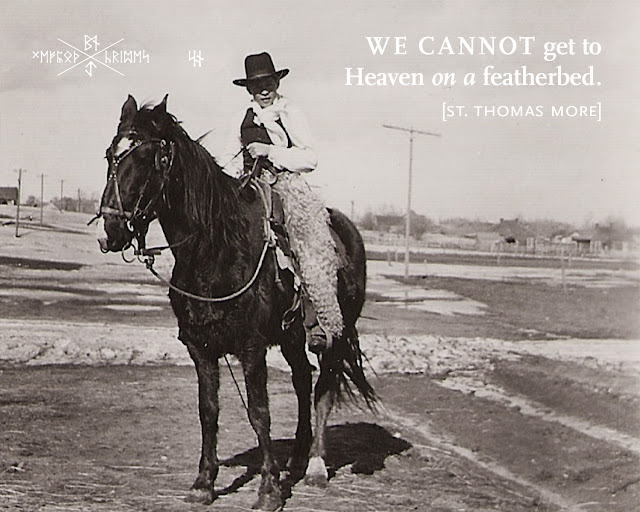 A photograph belonging to the Rev. Fr. Robert Bengry. A young cowboy.