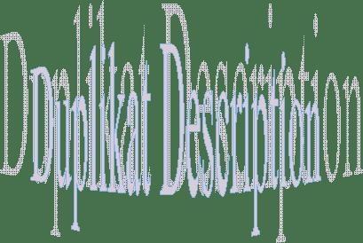 Cara mencegah atau mengatasi duplikat description