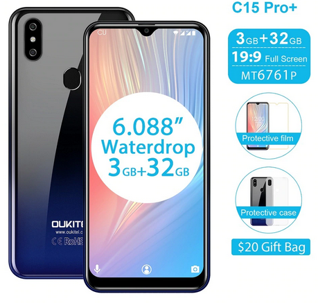 Buy Cheap Oukitel C15 Pro+, Water drop notch display 3GB + 32GB Storage for N28,000