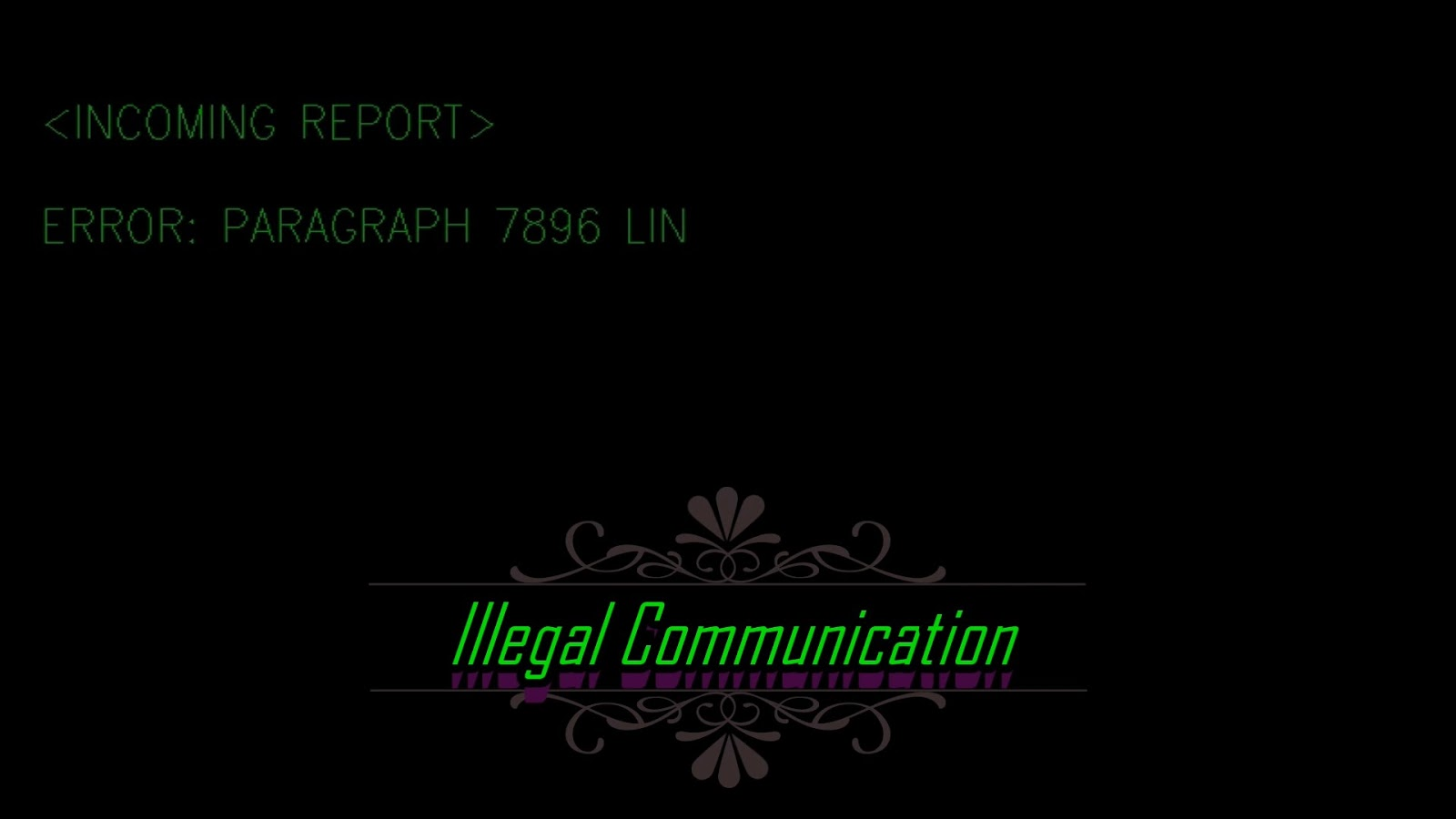 Illegal Communications (2006) When mouse sensitivity can