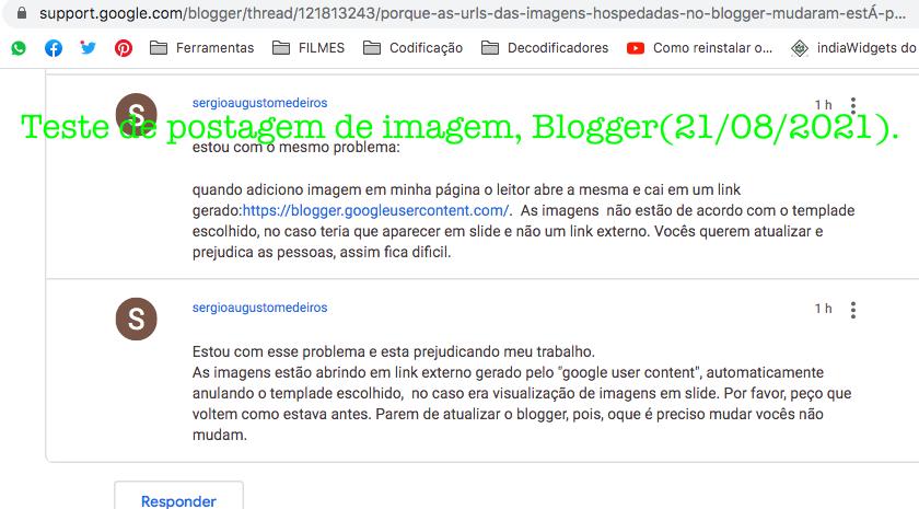Teste de postagem de imagem em 21 de agosto 2021, Blogger.