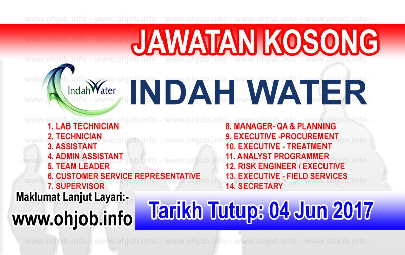 Jawatan Kerja Kosong IWK - Indah Water Konsortium logo www.ohjob.info jun 2017