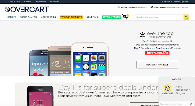 Overcart.com announces #OTT festive season sale with upto 70% off on unboxed and refurbished smartphones