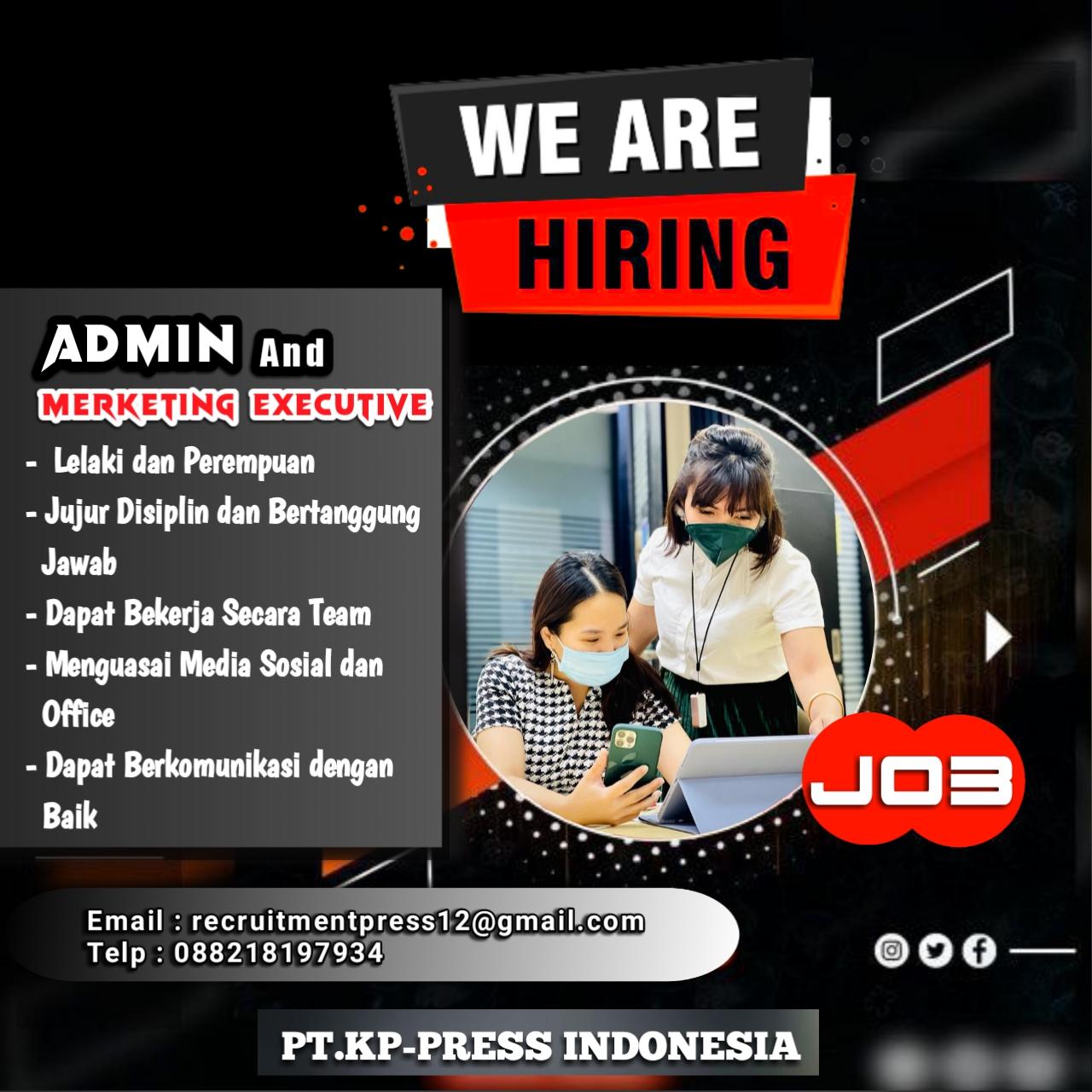 Lowongan Kerja PT.KP-PRESS INDONESIA