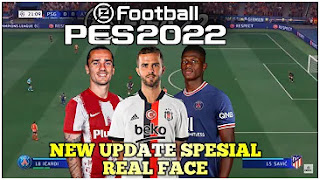 Download eFootball PES 2022 PPSSPP New Update Special Real Face Best Graphics & Latest Transfer And Kits