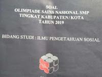 Soal dan Jawaban OSN IPS SMP 2019 Tingkat Kabupaten No 41-60