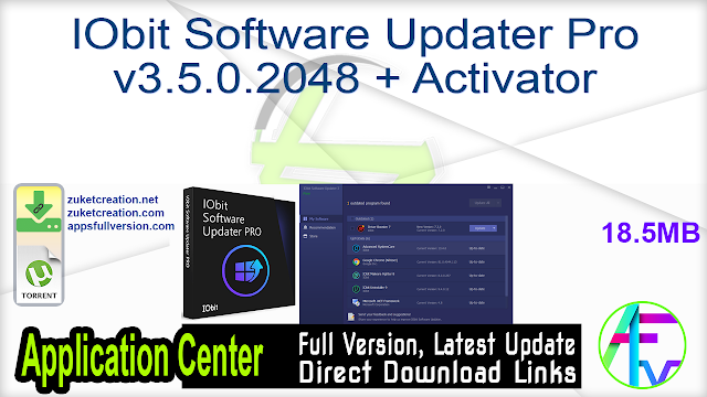 IObit Software Updater Pro v3.5.0.2048 + Activator
