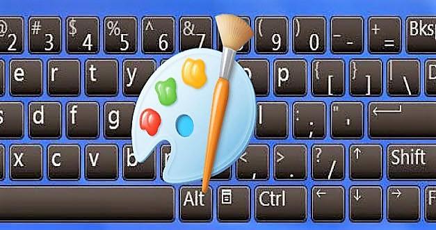 اختصارات لوحة مفاتيح الرسام في الويندوز ( Paint )