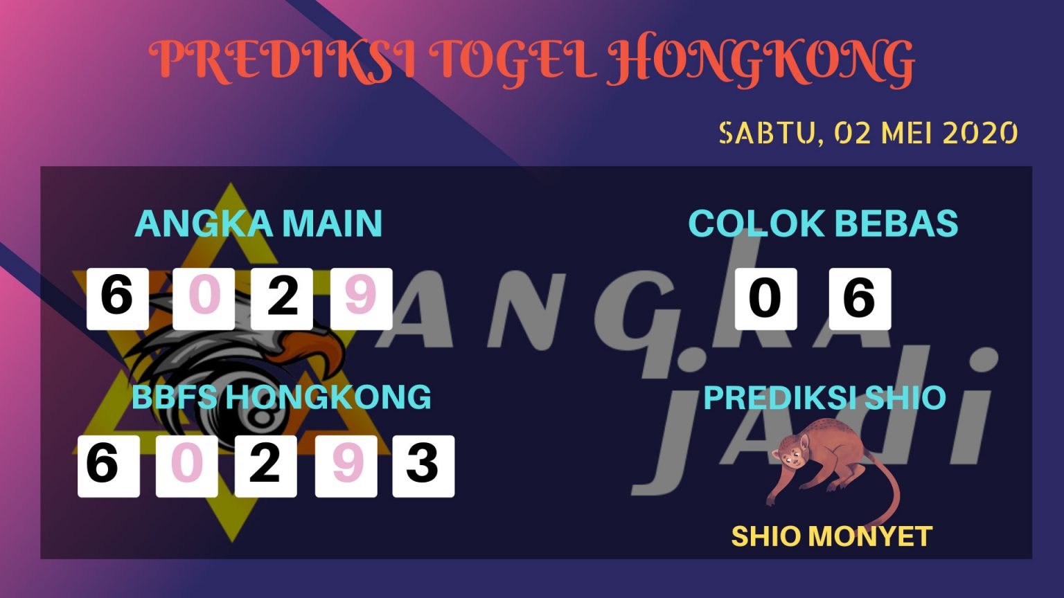 Prediksi Togel Hongkong 02 Mei 2020 - Prediksi Angka HK