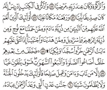 Tafsir Surat Maryam Ayat 56, 57, 58, 59, 60