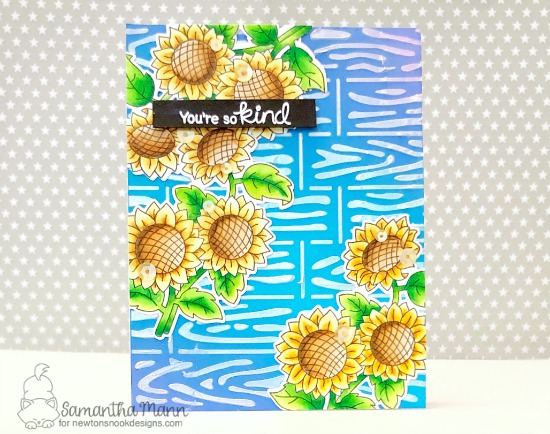 Sunflower Card by Samantha Mann | Sunflower Days Stamp Set by Samantha Mann | Newton's Nook Designs #newtonsnook #handmade