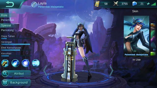 Hero Layla ( Penembak Malapetaka ) Attack Damage Build/ Set up Gear