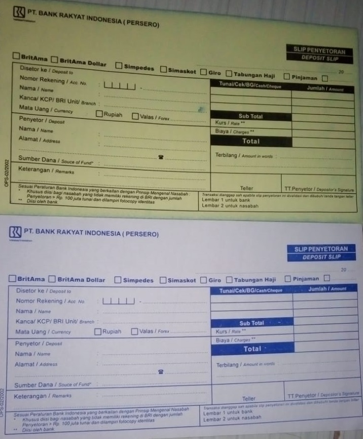 Formulir Isian Dalam Bahasa Inggris Yang Digunakan Di Perusahaan Bank Instansi Dan Lain Lain