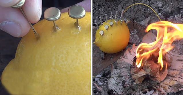 We Explain How To Make A Fair Fire With A Lemon