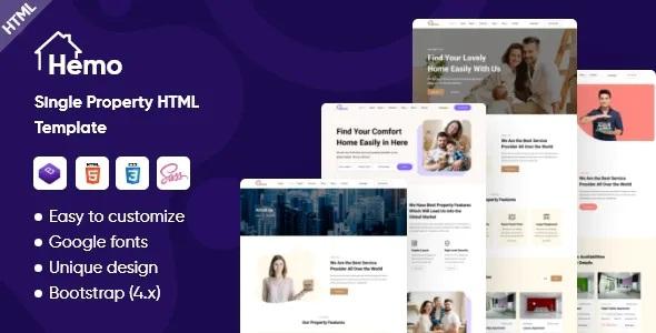 Hemo Single Property HTML Template