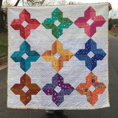 many colored diamond quilt
