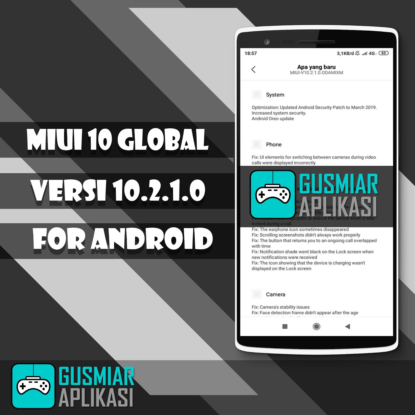 MIUI 10 Versi 10 2 1 0 For Redmi 5 (Rosy) - Gusmiar Aplikasi