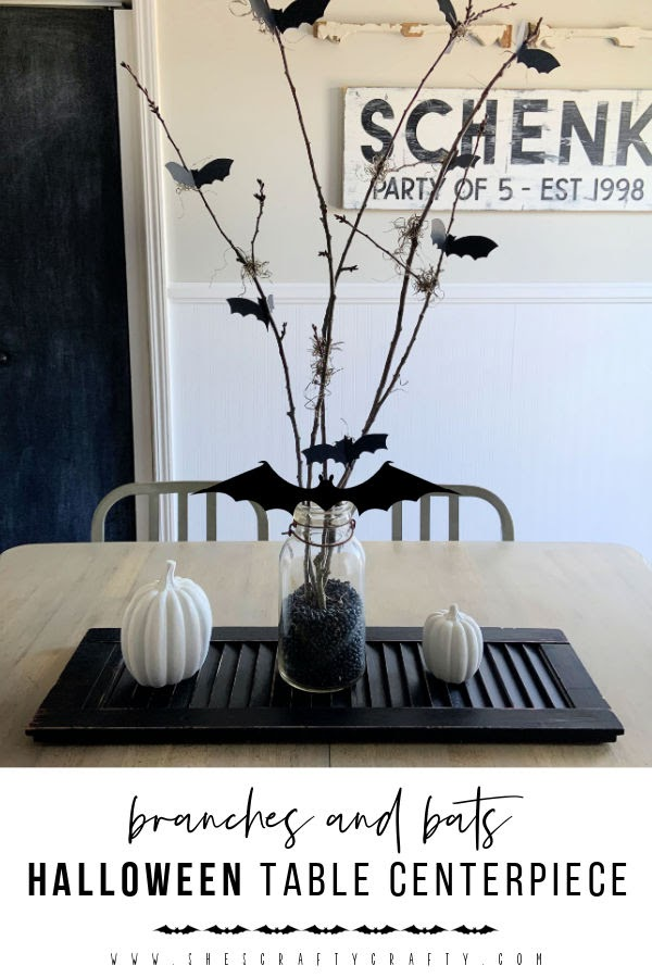 Branches and bats table centerpiece