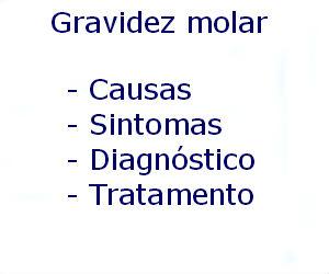 Gravidez molar causas sintomas diagnóstico tratamento prevenção riscos complicações