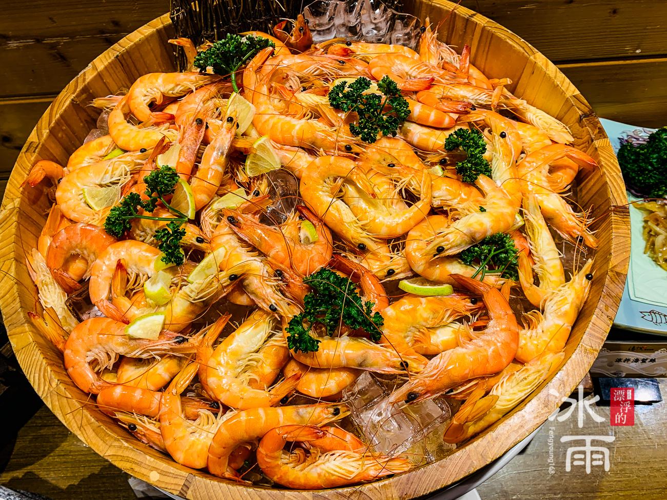 泰安湯悅溫泉會館|餐廳蝦子冷盤