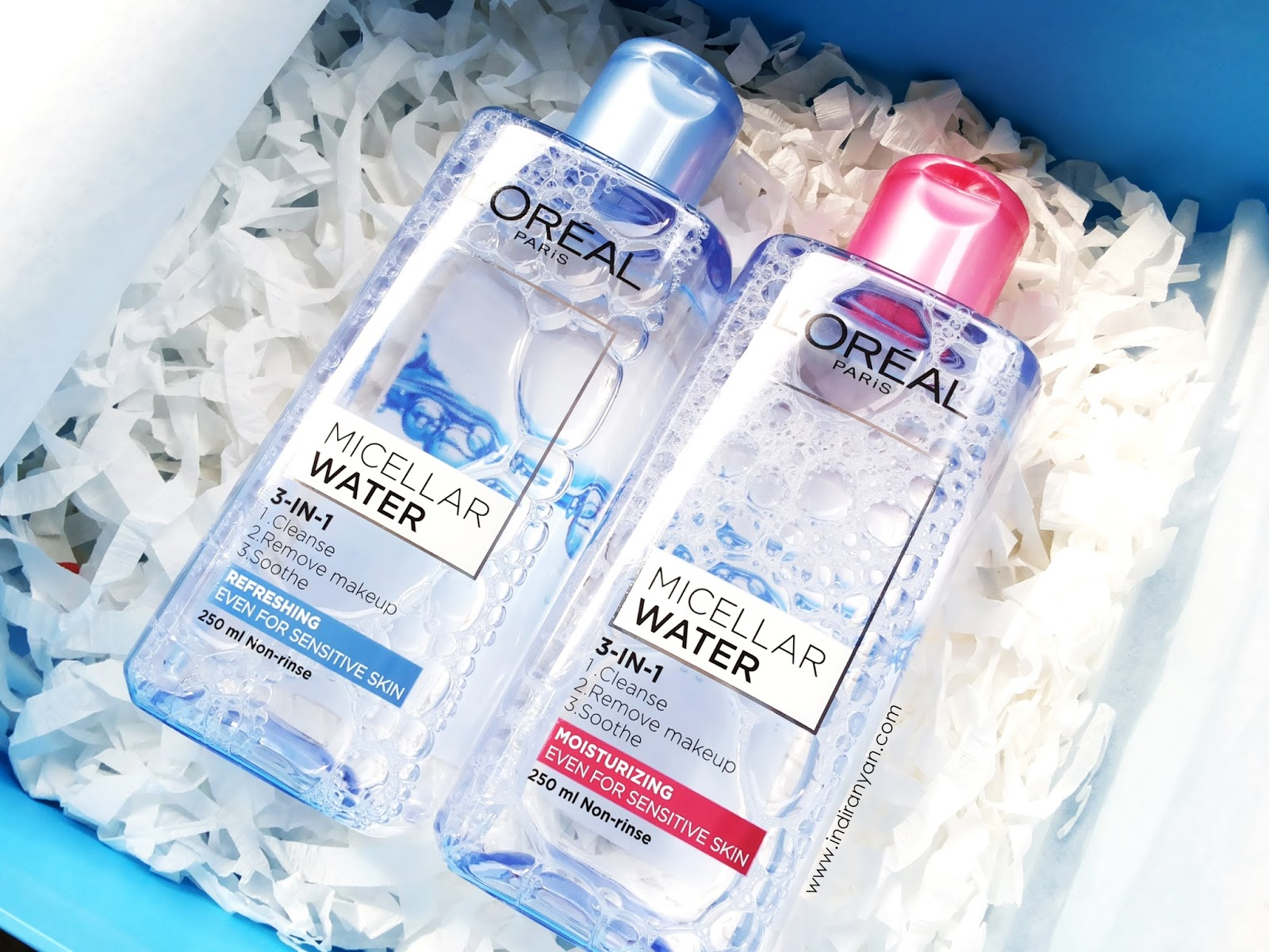 loreal-micellar-water-review, loreal-micellar-water-packaging, loreal-micellar-water-harga