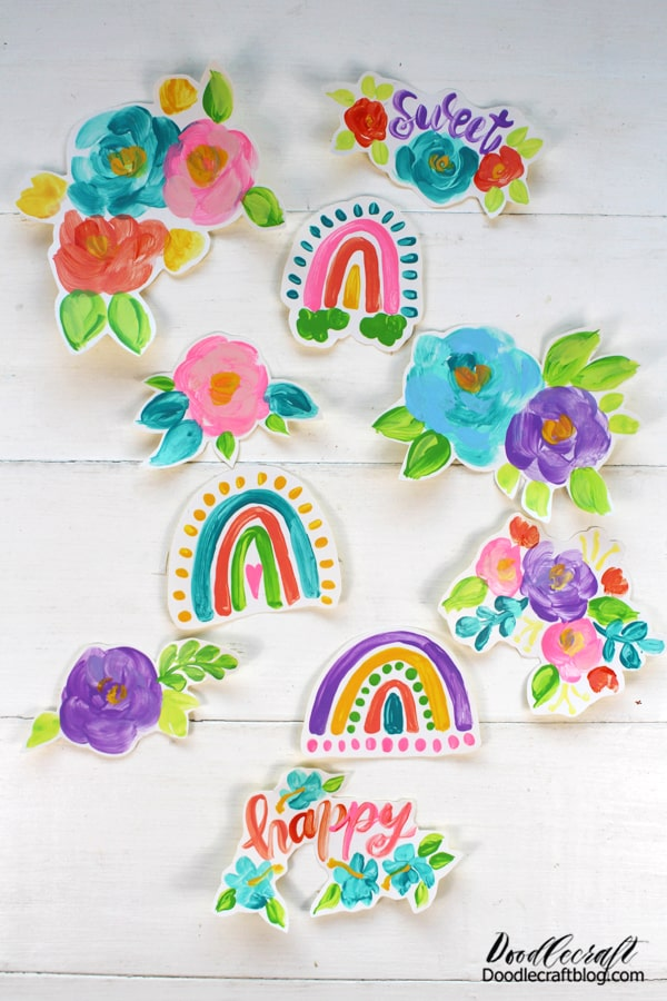 Which sticker is your favorite? Do you like the bunches of blooms or the colorful tasseled rainbows?