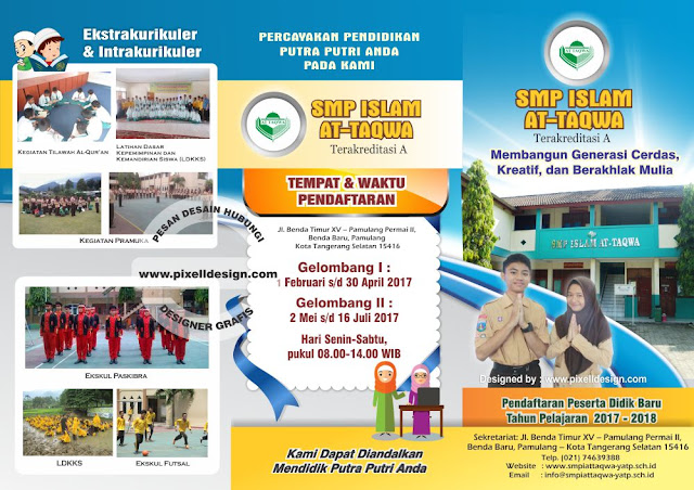 Iklan Brosur Pendidikan Pendaftaran Sekolah SMP