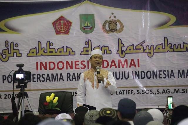 Tabligh Akbar dan Tasyakuran Indonesia Damai TNI-Polri Bersama Masyarakat Kepri