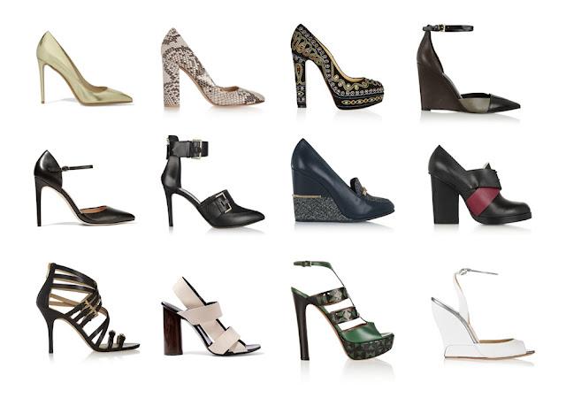 Туфли и босоножки для типа фигуры Перевернутый треугольник